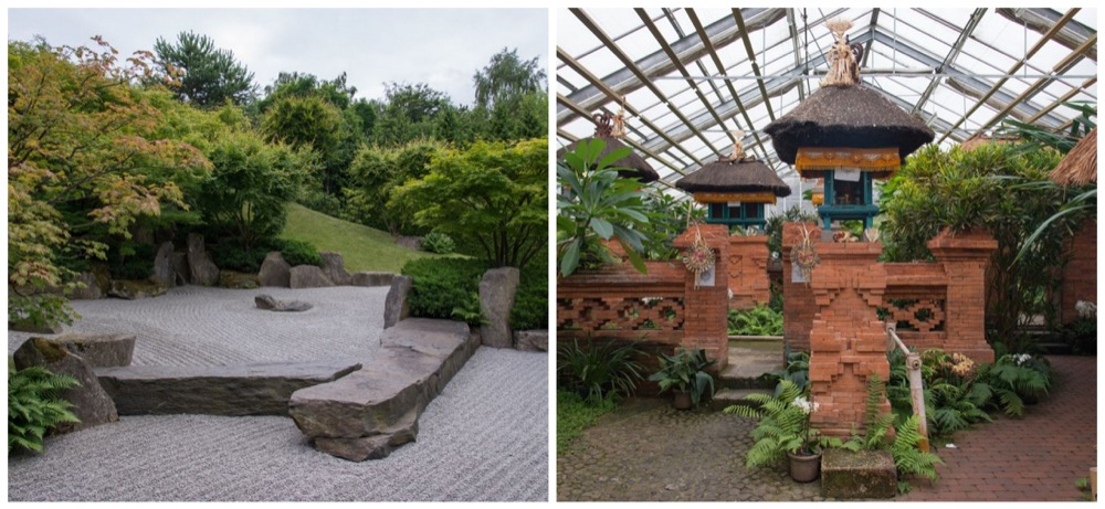 Le jardin japonais, conçu selon des inspirations zen et inauguré en 2003 -  Le jardin balinais a la particularité d'être visitable en hiver comme en été.