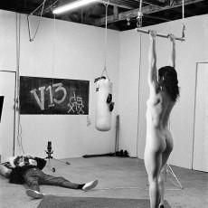 Alice Springs: Helmut Newton with Lisa Lyon, Venice, California, 1981. © Alice Springs