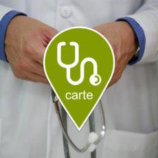 Carte des médecins / paramedicaux francophones