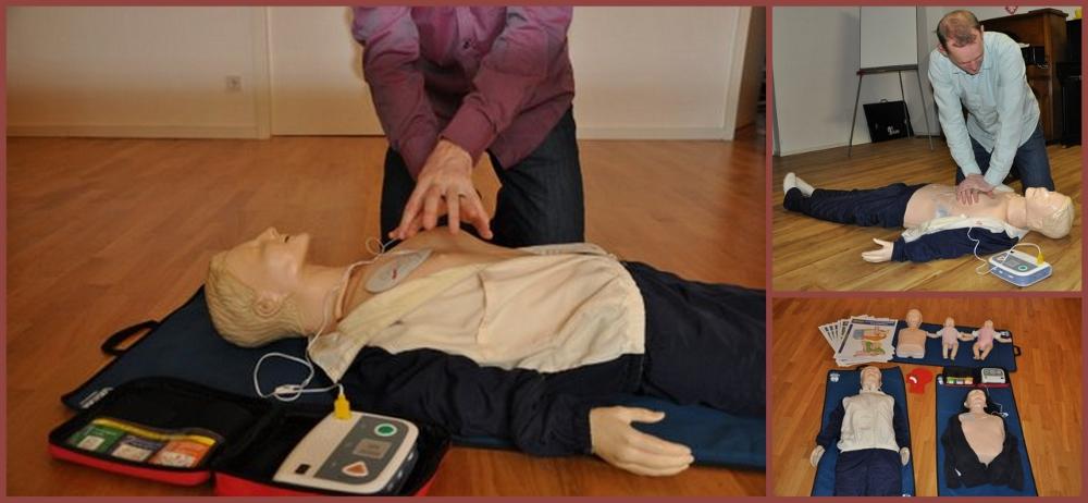 Mannequins et massage cardiaque. © B.Blanquart