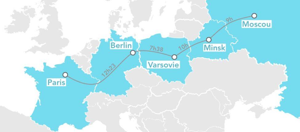 Train de nuit Paris - Berlin - Moscou