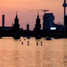 Coucher de soleil à Berlin