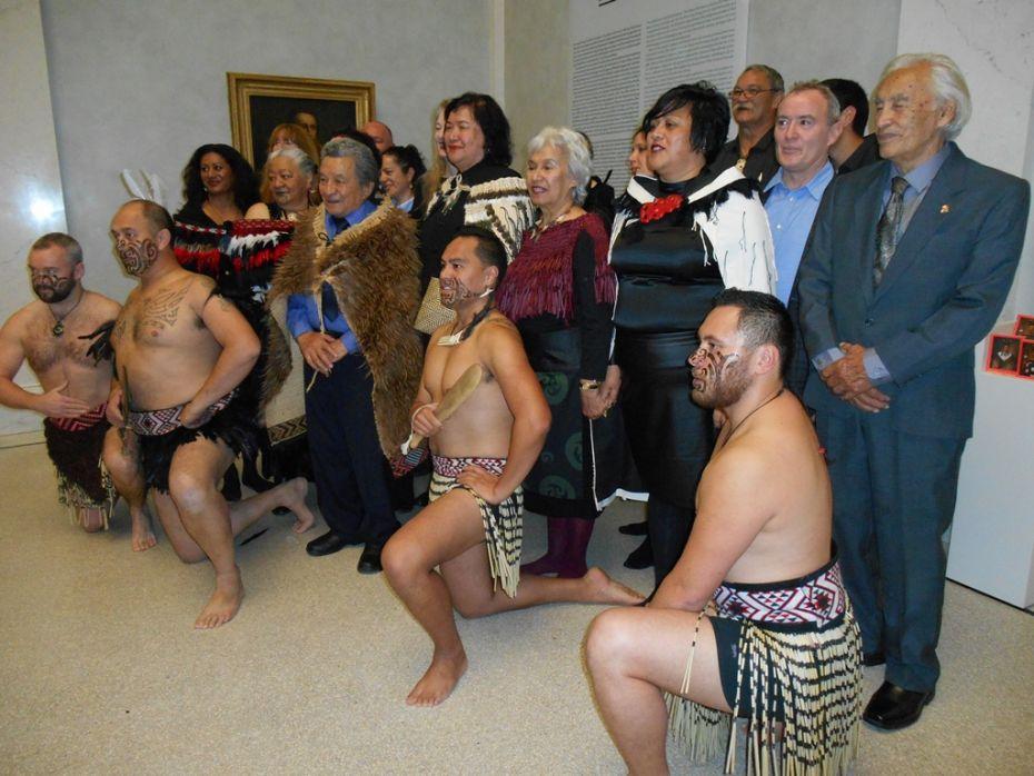 La délégation maorie à Berlin pour inaugurer l'exposition
